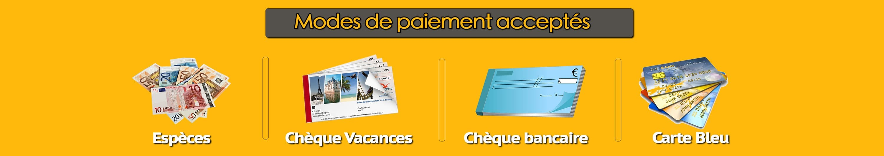 Mode de paiement chaima travel