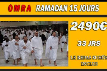 Omra Ramadan 15 jours (Proximité)