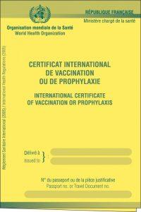 Vaccins pour la Omra ou le Hajj, carnet de santé international
